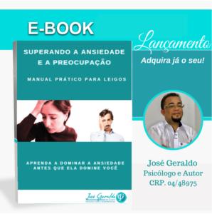 E-book Superando a Ansiedade e a Preocupação